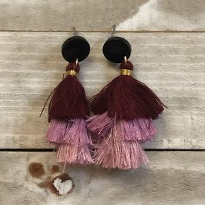🖤3 for $15🖤 black and purple tiered earrings